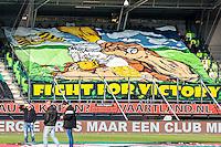 NIJMEGEN - NEC - Vitesse , Voetbal , Eredivisie , Seizoen 2016/2017 , Stadion de Goffert , 23-10-2016 , Spandoek van Vitesse
