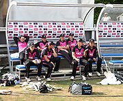 White Ferns after losing the international T20 Final to England Women at the County Ground, Chelmsford. Photo: Graham Morris/www.photosport.nz 01/07/18