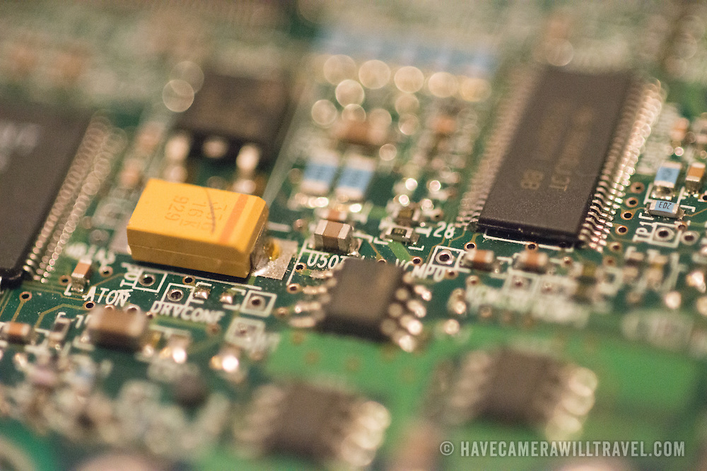 Close-up of computer circuit boards.