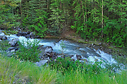 Sinclair Creek flowing into Sinclair Canyon, Kootenay National Park, British Columbia, Canada