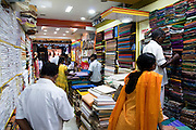 India, Tamil Nadu, pondicherry, Interior of a material shop