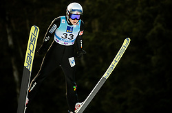 Anna Odine Stroem of Norway soaring through the air during 1st Round at Day 1 of World Cup Ski Jumping Ladies Ljubno 2019, on February 8, 2019 in Ljubno ob Savinji, Slovenia. Photo by Matic Ritonja / Sportida