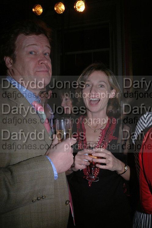Christopher Sylvester and Daisy Waugh. The Literary Review's Bad Sex Awards. annual ceremony for authors who write about sex in a 'redundant, perfunctory, unconvincing and embarrassing way. In and Out Club. London.  1 December  2005. ONE TIME USE ONLY - DO NOT ARCHIVE  © Copyright Photograph by Dafydd Jones 66 Stockwell Park Rd. London SW9 0DA Tel 020 7733 0108 www.dafjones.com