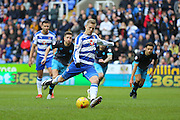 Reading striker Matej Vydra (7) misses from the penalty spot during the Sky Bet Championship match between Reading and Sheffield Wednesday at the Madejski Stadium, Reading, England on 23 January 2016. Photo by Phil Duncan.