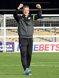 Peterborough United Manager, Darren Ferguson celebrates the victory at full-time - Photo mandatory by-line: Joe Dent/JMP - Tel: Mobile: 07966 386802 21/09/2013 - SPORT - FOOTBALL - London Road Stadium - Peterborough - Peterborough United V MK Dons - Sky Bet League 1