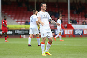Luton Town Forward Jack Marriott has a goal disallowed during the EFL Sky Bet League 2 match between Crawley Town and Luton Town at the Checkatrade.com Stadium, Crawley, England on 17 September 2016. Photo by Phil Duncan.