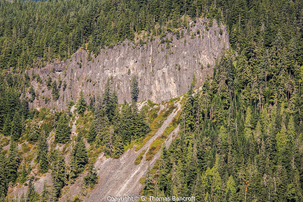 Rampart Ridge is a larva flow that formed between the Nisqually Glacier and the Kautz Glacier 375,000 years ago when the glaciers were a thousand feet thick and much longer.