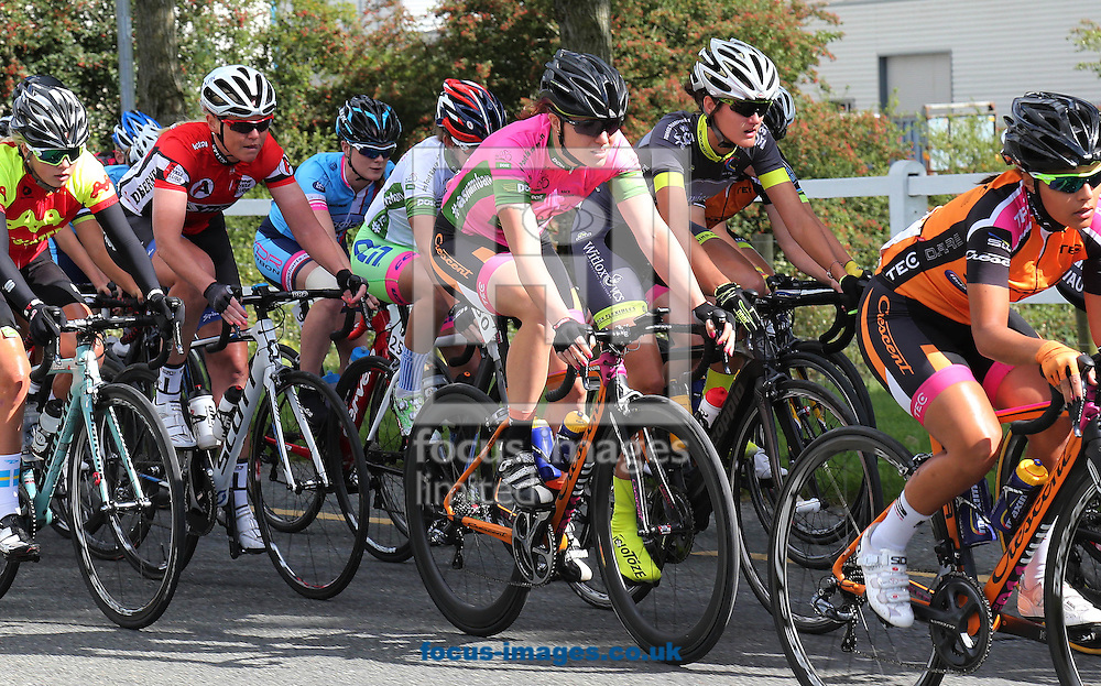 Race leader Denmark's Rikke Lonne of the Team Crescent Dare  pictured during Ras na mBan at Castlecomer, Co.Kilkenny, Ireland<br /> Picture by Lorraine O'Sullivan/Focus Images Ltd +353 872341584<br /> 08/09/2016