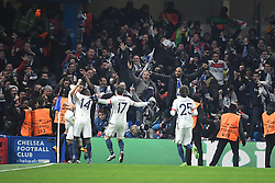 09.03.2016, Stamford Bridge, London, ENG, UEFA CL, FC Chelsea vs Paris Saint Germain, Achtelfinale, Rueckspiel, im Bild di maria angel, matuidi blaise, maxwell scherrer, rabiot adrien // during the UEFA Champions League Round of 16, 2nd Leg match between FC Chelsea vs Paris Saint Germain at the Stamford Bridge in London, Great Britain on 2016/03/09. EXPA Pictures © 2016, PhotoCredit: EXPA/ Pressesports/ LAHALLE PIERRE<br /> <br /> *****ATTENTION - for AUT, SLO, CRO, SRB, BIH, MAZ, POL only*****