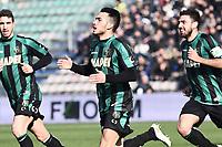 esultanza gol Nicola Sansone Sassuolo Goal celebration <br /> Reggio Emilia 01-02-2015 Mapei Stadium Football Calcio Serie A 2014/2015 Sassuolo - Inter foto Image Sport / Insidefoto