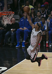 November 15, 2018 - Los Angeles, California, U.S - Dante Cunningham #33 of the San Antonio Spurs dunks the ball during their NBA game with the Los Angeles Clippers on Thursday November 15, 2018 at the Staples Center in Los Angeles, California. (Credit Image: © Prensa Internacional via ZUMA Wire)