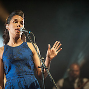 Rhiannon Giddens performs at Lincoln Theater in Washington ,DC on April 12, 2015