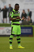 Forest Green Rovers midfielder Drissa Traore (4) during the Vanarama National League match between Forest Green Rovers and Dagenham and Redbridge at the New Lawn, Forest Green, United Kingdom on 29 October 2016. Photo by Alan Franklin.