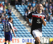 Gary Harkins celebrates his winner - Kilmarnock v Dundee - Clydesdale Bank Scottish Premier League at Rugby Park. - © David Young - www.davidyoungphoto.co.uk - email: davidyoungphoto@gmail.com