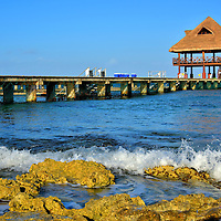 Pier at Chankanaab Park near San Miguel, Cozumel, Mexico<br />