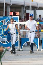 Ahlmann Christian (GER), Melchior Judy Ann (BEL)<br /> Belgisch Kampioenschap Jumping - Lanaken 2011<br /> © Dirk Caremans