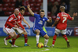 Conor Washington of Peterborough United is closed down by the Walsall defence - Mandatory byline: Joe Dent/JMP - 07966 386802 - 28/12/2015 - FOOTBALL - Banks' Stadium - Walsall, England - Walsall v Peterborough United - Sky Bet League One