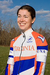Virginia Cavaliers Conference Women's Champion Cate McLean..Members of the University of Virginia Cycling Team met at Reeds Gap on the Blue Ridge Parkway in Virginia on April 9, 2007 for a team photo shoot.