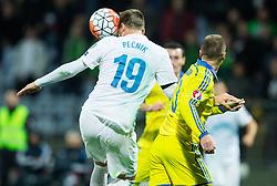 Nejc Pecnik (SLO) vs Vyacheslav Shevchuk (UKR) during the UEFA EURO 2016 Play-off for Final Tournament, Second leg between Slovenia and Ukraine, on November 17, 2015 in Stadium Ljudski vrt, Maribor, Slovenia. Photo by Vid Ponikvar / Sportida