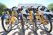 Tugo Bike Share bikes awaiting people at the Ride-Out.