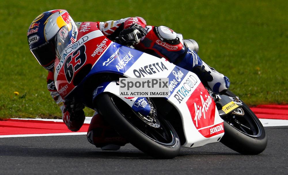 HERTZ BRITISH GRAND PRIX ..Zulfahmi Khairuddin riding the Ongetta-Air Asia Honda  riding in the Moto3 first free practice session..(c) STEPHEN LAWSON | SportPix.org.uk
