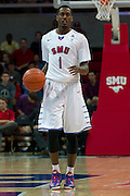 DALLAS, TX - JANUARY 15: Ryan Manuel #1 of the SMU Mustangs brings the ball up court against the South Florida Bulls on January 15, 2014 at Moody Coliseum in Dallas, Texas.  (Photo by Cooper Neill/Getty Images) *** Local Caption *** Ryan Manuel