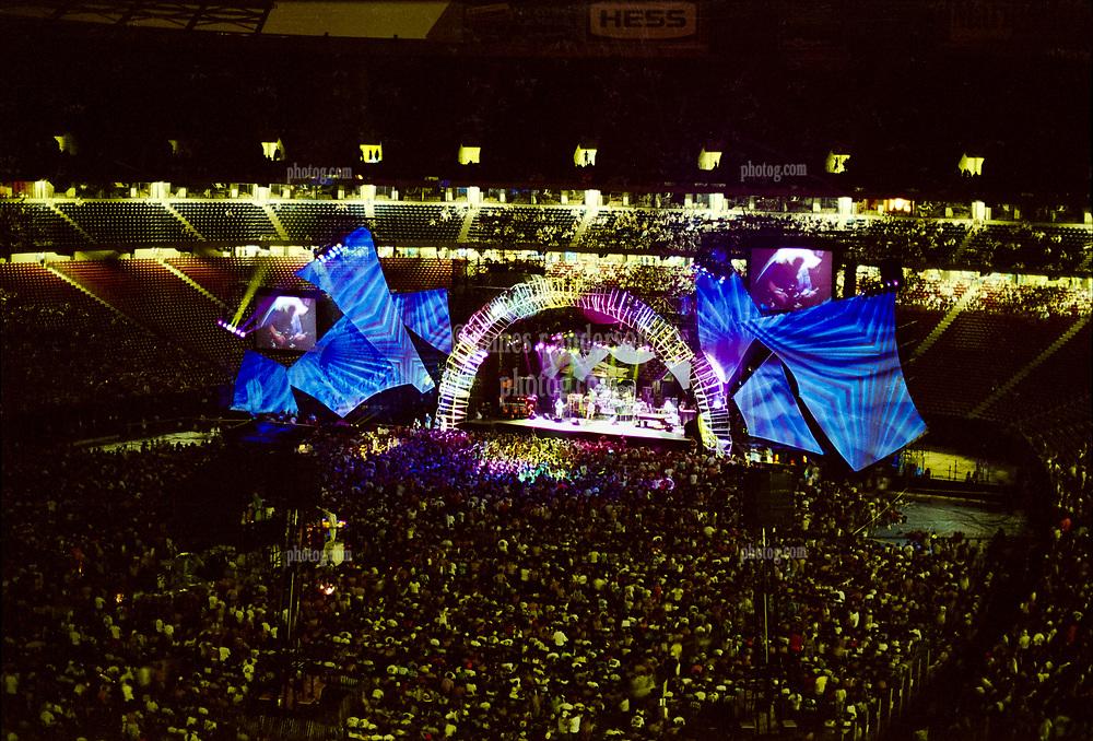 The Grateful Dead Live in Concert at Giants Stadium June 16, 1991. Full Set, Lights and Stage Design Capture Image.