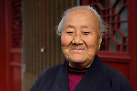 "Taoist Nun, 96 years old, Manager of the Temple Qingniu Dongtian ""green Buffalo Cave Heaven"", Taibaishan nature reserve, Shaanxi, China"