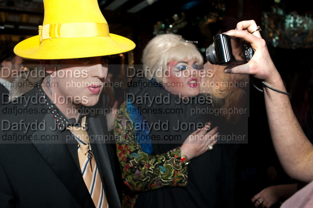 BOY GEORGE; DANIEL LISMORE, party to celebrate Alexander Wang at Liberty and The Androgyny Issue of LOVE, hosted by Katie Grand, Alexander Wang, and Ed Burstell of Liberty, Liberty. Great Marlborough St. London. 21 February 2011. -DO NOT ARCHIVE-© Copyright Photograph by Dafydd Jones. 248 Clapham Rd. London SW9 0PZ. Tel 0207 820 0771. www.dafjones.com.