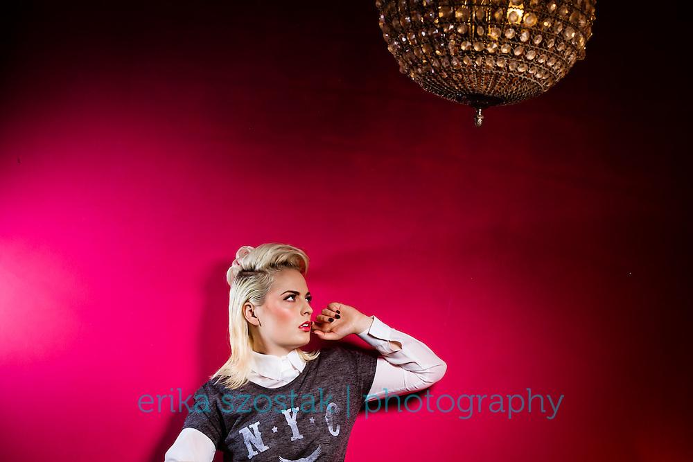 Publication: Absolute Brighton Magazine, November 2013<br /> Photography: Erika Szostak<br /> Production &amp; styling: Kate Morton<br /> Makeup: Maria McKenna<br /> Hair: Simon Webster<br /> Model: Bethan Moyse<br /> Shoot assistant: Iszara Morgan<br /> Assistant photography: Jason Balchin<br /> Location: Proud Cabaret Brighton