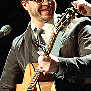 """Amos Lee performs on January 20, 2011 in support of """"Mission Bell"""" at the Moore Theatre in Seattle, Washington"""