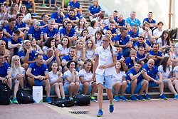 at press conference of Slovenian Olympic Committee before XVIII Mediterranean Games in Tarragona 2018, on June 18, 2018 in Portoroz, Slovenia. Photo by Urban Urbanc / Sportida