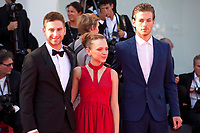 Actors Yonathan Shiray, Shira Haas and Gefen Barkai at the premiere of the film Foxtrot at the 74th Venice Film Festival, Sala Grande on Saturday 2 September 2017, Venice Lido, Italy.