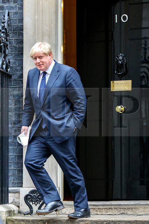 © Licensed to London News Pictures. 15/11/2016. London, UK. Foreign Secretary BORIS JOHNSON attends a cabinet meeting in Downing Street on Tuesday, 15 November 2016. Photo credit: Tolga Akmen/LNP