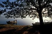 Batticaloa, East coast of the island..The lagoon and fishing boats.