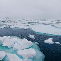 Alberto Carrera, Arctic Lands, Drift floating Ice, Albert I Land, Arctic, Spitsbergen, Svalbard, Norway, Europe