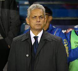 Head Coach Reinaldo Rueda of Ecuador during the national anthem - Photo mandatory by-line: Robin White/JMP - Tel: Mobile: 07966 386802 01/01/2014 - SPORT - FOOTBALL - The Den - Australia v Ecuador - World Cup Warm Up