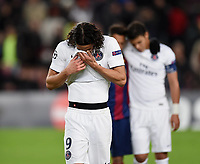 Fotball<br /> Foto: imago/Digitalsport<br /> NORWAY ONLY<br /> <br /> FUSSBALL CHAMPIONS LEAGUE SAISON 2014/2015 Vorrunde FC Barcelona Barca - Paris St. Germain 10.12.2014 Enttaeuschung Paris Saint-Germain: Edinson Cavani