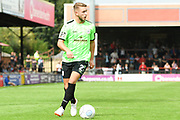 James Baillie of Curzon Ashton (2) in action during the Vanarama National League North match between York City and Curzon Ashton at Bootham Crescent, York, England on 18 August 2018.