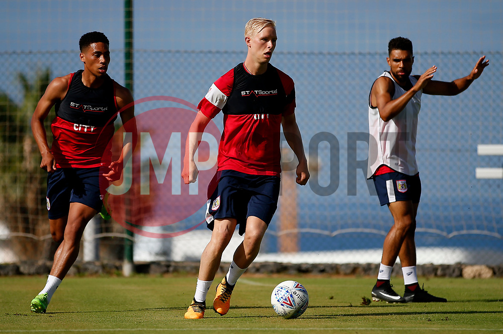 Zak Vyner, Hordur Magnusson and Scott Golbourne of Bristol City - Mandatory by-line: Matt McNulty/JMP - 20/07/2017 - FOOTBALL - Tenerife Top Training Centre - Costa Adeje, Tenerife - Pre-Season Training