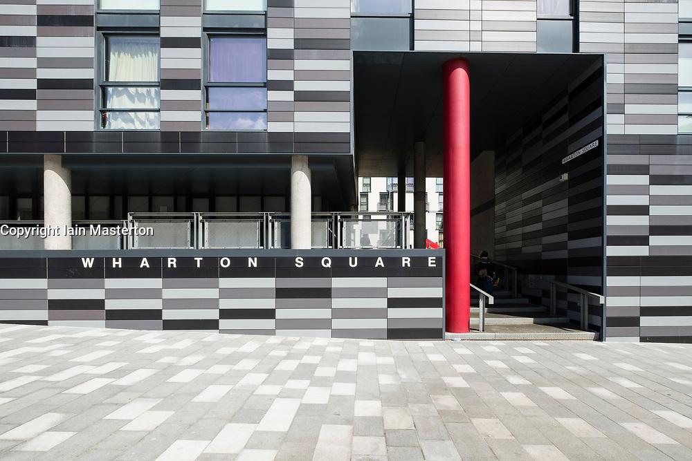 Exterior of Wharton Square new affordable housing in Edinburgh, Scotland, United Kingdom.