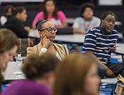 Community meeting at Energy Institute High School, November 17, 2015.