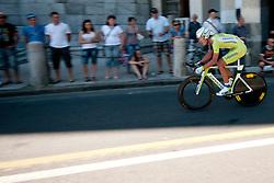 Cyclist of Liquigas during chronometer (17,8km) of Tour de Slovenie 2012, on June 17 2012, in Ljubljana, Slovenia. (Photo by Urban Urbanc / Sportida.com)