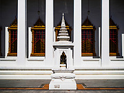 10 APRIL 2017 - BANGKOK, THAILAND:  Wat Ratchanatdaram is a Buddhist temple in Phra Nakhon district, Bangkok. It means Temple of the Royal Niece, the temple was built on the orders of King Nangklao (Rama III) for the princess granddaughter, Somanass Waddhanawathy in 1846.      PHOTO BY JACK KURTZ