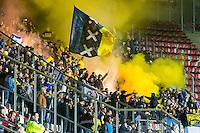 ALKMAAR - 20-10-2016, AZ - Maccabi Tel Aviv, AFAS Stadion, rook, vuurwerk