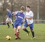 Springfield (blue) v Park Tool - Dundee Saturday Morning Football League<br /> <br />  - &copy; David Young - www.davidyoungphoto.co.uk - email: davidyoungphoto@gmail.com