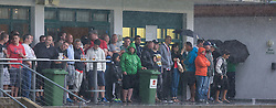 18.07.2013, Fußballstadion im Aktivpark Montafon, Schruns Tschagguns, AUT, Testspiel, SC Freiburg vs Olympiakos Piraeus, im Bild Fans during the friendly Match between SC Freiburg vs Olympiakos Piraeus at the Stadium at Aktivpark Montafon, Schruns Tschagguns, Austria on 2013/07/18. EXPA Pictures © 2012, PhotoCredit: EXPA/ Peter Rinderer