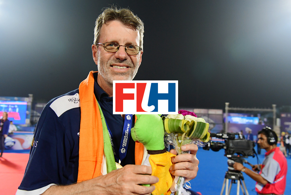 Odisha Men's Hockey World League Final Bhubaneswar 2017<br /> Match id:<br /> Ceremony<br /> Foto: coach Colin Batch (Aus) <br /> COPYRIGHT WORLDSPORTPICS FRANK UIJLENBROEK