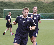 Greg Stewart and Kevin Thomson at Dundee pre-season training at GLOBALL Football Park, Budapest, Hungary<br /> <br />  - &copy; David Young - www.davidyoungphoto.co.uk - email: davidyoungphoto@gmail.com