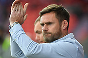 Sunthorpe United manager Graham Alexander during the EFL Sky Bet League 1 match between Doncaster Rovers and Scunthorpe United at the Keepmoat Stadium, Doncaster, England on 17 September 2017. Photo by Ian Lyall.